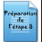 prep etape 8