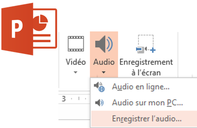 Enregistrement audio Power-point