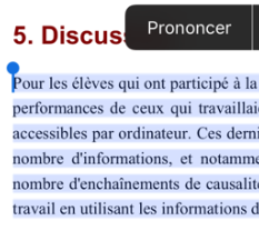 Enoncer -petite image - exemple iBooks