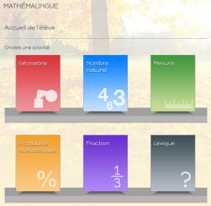 Mathemalingue - vue eleve