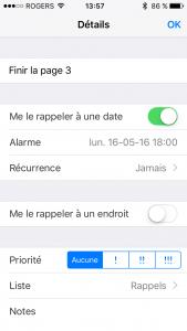 Rappels manuellement 2 - iPhone