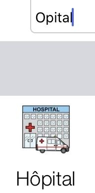 Exemple de prédiction phonologique avec le mot hôpital orthographié opital.
